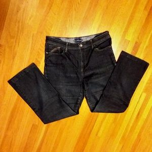 Gloria Vanderbilt dark embellished pocket jeans 8